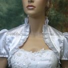 Ivory White Red Blue Green Satin Short Sleeves Bridal Vest Shawl Wedding Bolero Jacket J30