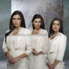 Ivory White Custom  Bridal Dress 3/4 Sleeves Wedding Dress Beaded Bolero Jacket Size 8-16