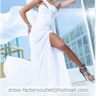 Black White Chiffon Bridal Evening Dress One Shoulder Beach Wedding Dress Prom Dress Formal Gown