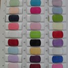 Real Organza Materials For Handcraft Evening/Bridesmaid Dress Color Swatches 2-4 Styles 10X10cm