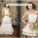 2-In-1 Dismountable Wedding Dress A-line Long Bridal Dress Demountable Short  Bridal Evening Dress