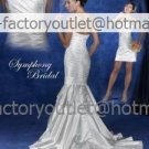 2-In-1 Demountable Wedding Dress Mermaid Strapless Long Bridal Gown Sheath Short Bridal Dress