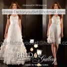 2-In-1 Demountable Wedding Dress A-line Organza Strapless Long Bridal Gown Short Bridal Dress