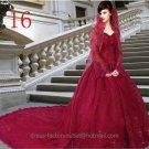 A-line Red Wedding Dress Sweetheart Bridal Gown & Long Sleeves Jacket Sz2 4 6 8 10-12 14+Custom