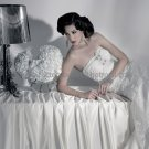 White Lace Bridal Dress A-line Strapless Bridal Gown Wedding Dress Sz 2 4 6 8 10 12 14+Custom