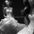 White Ivory Ruched Taffeta Bridal Gown Bridal Dress Strapless Sweetheart Wedding Dress