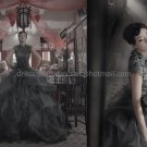Gry Organza Lace Bridal Dress A-line Ball Gown Quinceanera Dress Short Sleeves Sz 2 4 6 8 10+