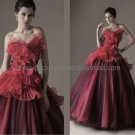 Creped Organza Bridal Dress Ball Gown A-line Wedding Dress Halloween Quinceanera DRESS Sz 24 6 8 10+