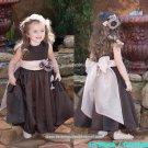 White Satin Junior Bridesmaid Dress Flower Girl Dress Baby Dresses Sz2 3 4 5 6 7 8 9 10+ Custom