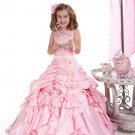 Pink Junior Bridesmaid Dress Prom Party Dress Flower Girl Dress Baby Dresses Sz2 3 4 5 6 7 8 9 10+