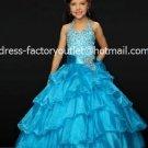 Blue Junior Bridesmaid Dress Prom Party Dress Flower Girl Dress Baby Dresses Sz2 3 4 5 6 7 8 9 10+