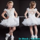 White Junior Bridesmaid Dress Prom Party Dress Flower Girl Dress Baby Dresses Sz2 3 4 5 6 7 8 9 10+