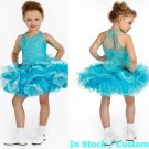 Blue Junior Bridesmaid Dress Prom Party Dress Flower Girl Dress Baby Dresses Sz2 3 4 5 6 7 8 9 10+