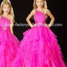 Fuchsia Junior Bridesmaid Dress Prom Party Dress Flower Girl Dress Baby Dress Sz2 3 4 5 6 7 8 9 10+