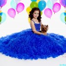 Blue Junior Bridesmaid Dress Prom Party Dress Flower Girl Dress Baby Dress Sz2 3 4 5 6 7 8 9 10+