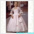 Pink Embroidery Junior Bridesmaid Dress Prom Party Dress Flower Girl Dress Sz2 3 4 5 6 7 8 9 10+