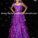 Purple Junior Bridesmaid Dress Prom Party Dress Flower Girl Dress Baby Dress Sz2 3 4 5 6 7 8 9 10+