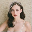 Multi Roses Net Short Wedding Veils Bridal Fascinate Head Cap Birdcage Veil