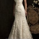 Champagne Lace Bridal Gown Long Strapless Wedding DresS TRUMPET Bridal Ball Gown Sz 2 4 6 8 10 12+