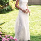 Ivory White Lace Wedding Dress Cap Sleeve Chiffon Bridal Gown Sz4 6 8 10 12 14+Custom