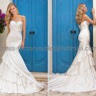 Ivory Bridal Wedding Gown Strapless Layered Memaid Bridal Wedding Dress Sz4 6 8 10 12 14+Custom