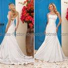 White Bridal Wedding Gown Strapless Jeweled Memaid Wedding Dress Sz4 6 8 10 12 14+Custom