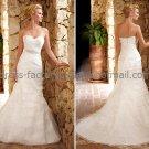 White Bridal Wedding Gown Strapless Layered Ruffles Organza Memaid Wedding Dress Sz4 6 8 10 12 14+