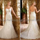 White Lace Bridal Wedding Gown Strapless Sweetheart Memaid Wedding Dress Sz4 6 8 10 12 14+Custom