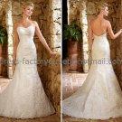 White Lace Bridal Wedding Gown Strapless Sweetheart Memaid Wedding Dress Sz4 6 8 10 12 14+Custom