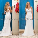 A-line White Chiffon Bridal Wedding Gown Sweetheart Wedding Evening Dress Sz4 6 8 10 12 14+Custom