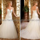 A-line Boat Neck Lace Bridal Wedding Gown White Strapless Wedding Dress Sz4 6 8 10 12 14+Custom