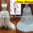 Ivory Organza Bridal Dress Double Straps Short Front Long Back Hi-low Beach Wedding Dress
