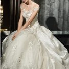 A-line Cap Sleeves Lace Taffeta Wedding Ball Gown Ivory Wedding Dress Sz4 6 8 10 12 14+Custom