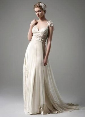 A-line Sexy Cap Sleeve Bridal Dress Champagne Backless Bridal Wedding Gown Sz 4 6 8 10 12 14+