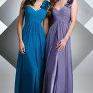 One Shoulder Long Bridesmaid Dress Blue Navy A-line Evening Dress Sz6 8 10 12 14+