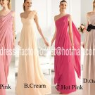 4 Styles Evening Dress Prom Dress Long Pink Champagne Red Cream Bridesmaid Dress Sz2-16+