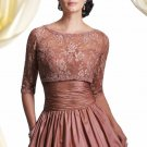 Strapless Evening Dress Black Rosy Brown Lace Prom Dress Mother of the Bride Groom Dress Sz2-16+