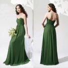 4 Pcs Free Shipping Evening Dress Prom Dress Long Green Chiffon Bridesmaid Dress Sz 2-16+Custom