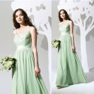 4 Pcs Free Shipping Evening Dress Prom Dress Green Purple Chiffon Bridesmaid Dress Sz 2-16+Custom
