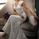 2013 New Ivory White Lace Bridal Wedding Dress Gown Cap Sleeves