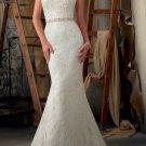 Discount Mermaid Lace Boat Neck V-back Bridal Wedding Gown Bridal Dress Sz 2-14+Custom