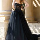 Strapless Bridal Wedding Gown Black White A-ine Wedding Dress Bridal Gown Prom Dress Sz 2 4 6 8 10+