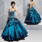 Strapless Blue Bridal Ball Gown A-line Prom Party Quinceanera Dress Q4 Sz2-16+Custom