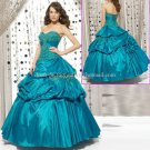 Strapless Blue Bridal Ball Gown A-line Prom Party Quinceanera Dress Q8 Sz2-16+Custom