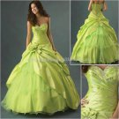 Strapless Green Bridal Ball Gown A-line Prom Party Quinceanera Dress Q17 Sz2-16+Custom