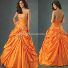 Strapless Orange Bridal Ball Gown A-line Prom Party Quinceanera Dress Q17 Sz2-16+Custom