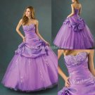 Strapless Lavender Purple Bridal Ball Gown A-line Corset Prom Party Quinceanera Dress Sz2-16+Custom