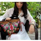 "Miya LT-06 ""Butterfly in Jade "" Ethnic Thai Stylish Embroidered Canvas Womem Shoulder Tote Bag"