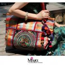 Miya LT-08 &quot;Dazzling&quot; Ethnic Thai Stylish Embroidered Canvas Womem Shoulder Tote Bag