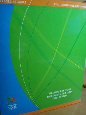 AUSTRALIAN MELBOURNE 2006 50c OLYMPIC COIN SET ALBUM MINT BOX (16 COINS +)